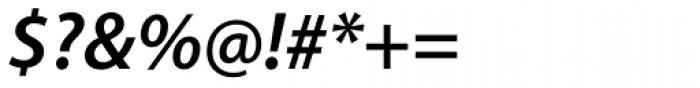 Myriad Pro SemiBold Italic Font OTHER CHARS