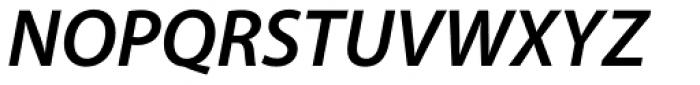 Myriad Pro SemiBold Italic Font UPPERCASE