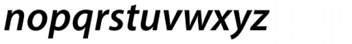 Myriad Pro SemiBold Italic Font LOWERCASE