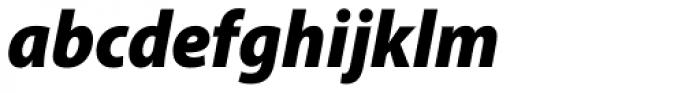 Myriad Pro SemiCond Black Italic Font LOWERCASE