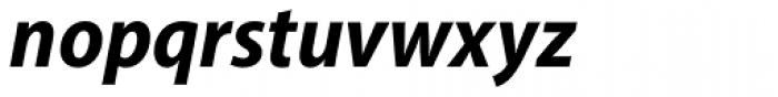 Myriad Pro SemiCond Bold Italic Font LOWERCASE