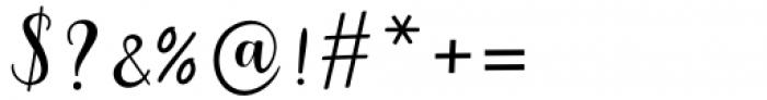 Myrtle Script Regular Font OTHER CHARS