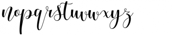 Myrtle Script Regular Font LOWERCASE