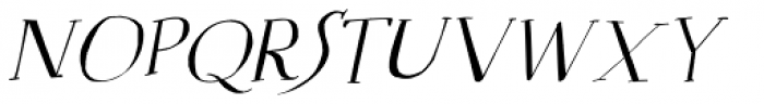 Mysterious Italic Font UPPERCASE