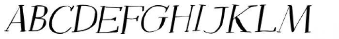 Mysterious Italic Font LOWERCASE