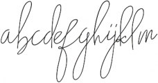Nadine ttf (400) Font LOWERCASE