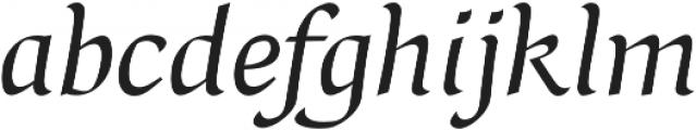 Naej Italic otf (400) Font LOWERCASE