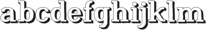 Nafisyah Extrude otf (400) Font LOWERCASE