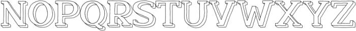 Nafisyah Outline Extrude otf (400) Font UPPERCASE