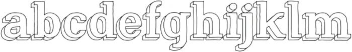 Nafisyah Outline Shadow otf (400) Font LOWERCASE