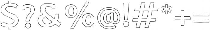 Nafisyah Outline otf (400) Font OTHER CHARS