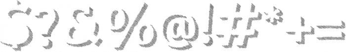 Nafisyah Strip Extrude otf (400) Font OTHER CHARS