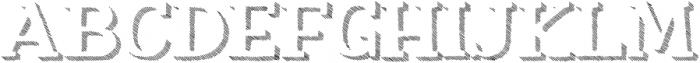 Nafisyah Strip Extrude otf (400) Font UPPERCASE