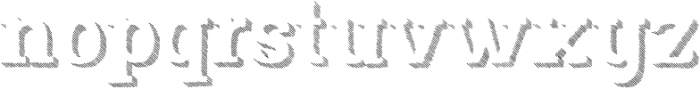Nafisyah Strip Extrude otf (400) Font LOWERCASE