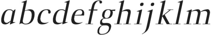 Naia regular-italic otf (400) Font LOWERCASE