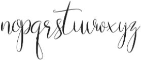 Naibacarte Regular otf (400) Font LOWERCASE