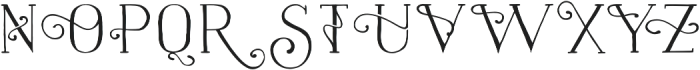 Naive Fantaisies Medium otf (500) Font UPPERCASE