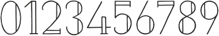Naive Inline Medium otf (500) Font OTHER CHARS