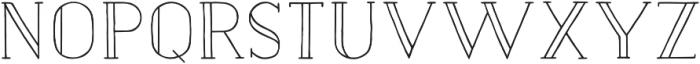 Naive Inline Medium otf (500) Font UPPERCASE