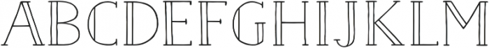 Naive Inline Medium otf (500) Font LOWERCASE