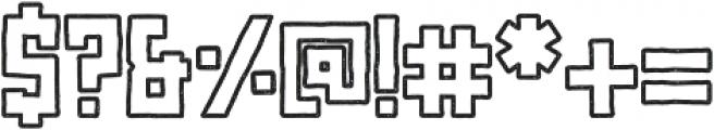 Najova Outline otf (400) Font OTHER CHARS
