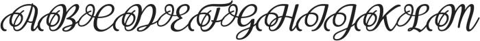 Nakser otf (400) Font UPPERCASE