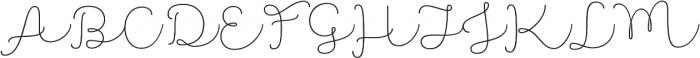 Namaste Script Essential Thin otf (100) Font UPPERCASE