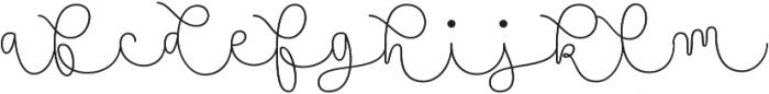 Namaste Script Essential Thin otf (100) Font LOWERCASE