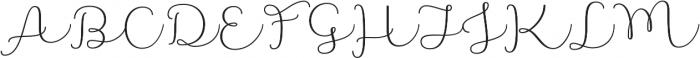 Namaste Script Pro Light otf (300) Font UPPERCASE