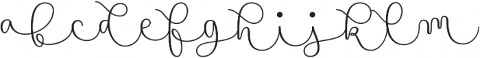 Namaste Script Pro Light otf (300) Font LOWERCASE