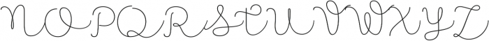 Namaste Script Pro Thin otf (100) Font UPPERCASE