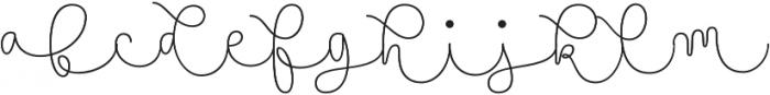 Namaste Script Pro Thin otf (100) Font LOWERCASE