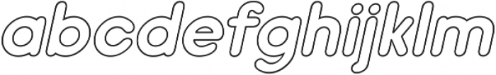 Nanami Book Oblique ttf (400) Font LOWERCASE