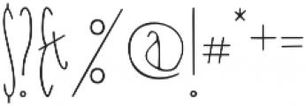 Nanu Regular otf (400) Font OTHER CHARS