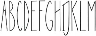 Nanu Regular otf (400) Font UPPERCASE