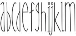 Nanu Regular otf (400) Font LOWERCASE