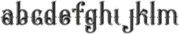 Napoleon Inline Shadow otf (400) Font LOWERCASE