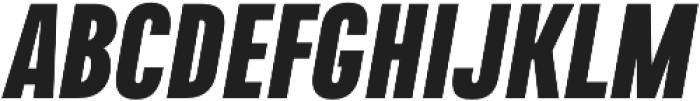 Naratif Condensed Black Italic otf (900) Font UPPERCASE