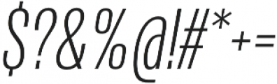 Naratif Condensed ExtraLight Italic otf (200) Font OTHER CHARS