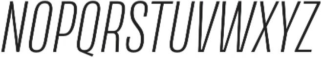 Naratif Condensed ExtraLight Italic otf (200) Font UPPERCASE