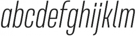 Naratif Condensed ExtraLight Italic otf (200) Font LOWERCASE