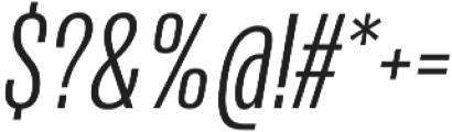 Naratif Condensed Light Italic otf (300) Font OTHER CHARS