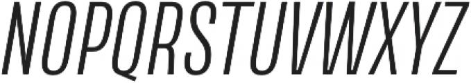 Naratif Condensed Light Italic otf (300) Font UPPERCASE