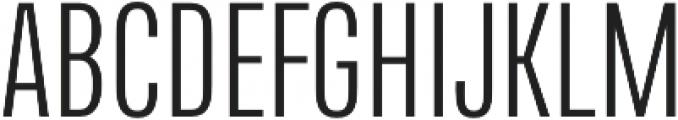 Naratif Condensed Light otf (300) Font UPPERCASE