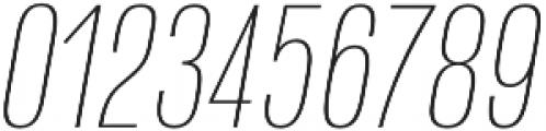 Naratif Condensed Thin Italic otf (100) Font OTHER CHARS