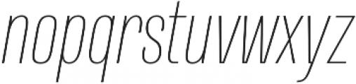 Naratif Condensed Thin Italic otf (100) Font LOWERCASE