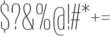 Naratif Condensed Thin otf (100) Font OTHER CHARS