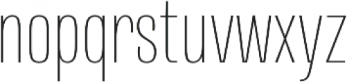 Naratif Condensed Thin otf (100) Font LOWERCASE