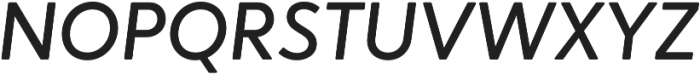 Narin Medium Italic otf (500) Font UPPERCASE