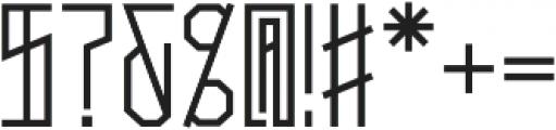 Narrow Bold otf (700) Font OTHER CHARS